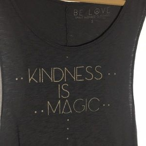 Tops - Yoga graphic tank. kindness is magic
